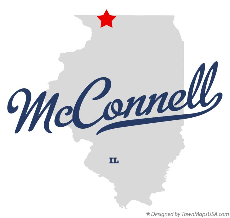Map of McConnell Illinois IL
