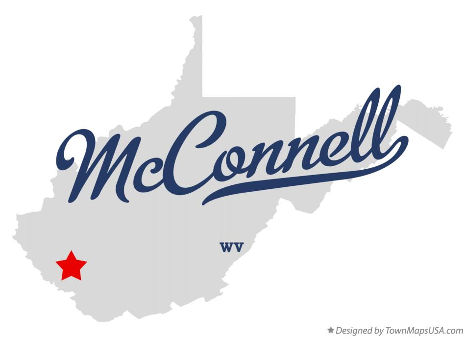 Map of McConnell West Virginia WV