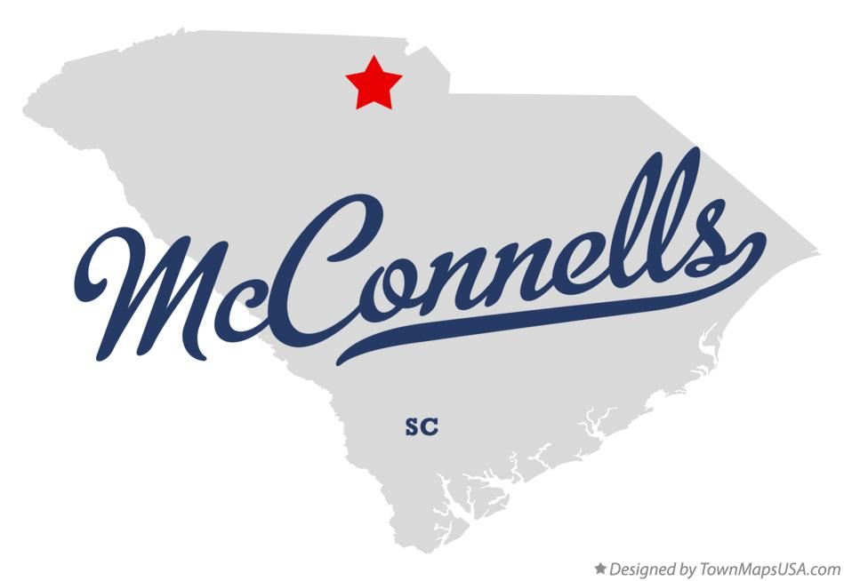 Map of McConnells South Carolina SC