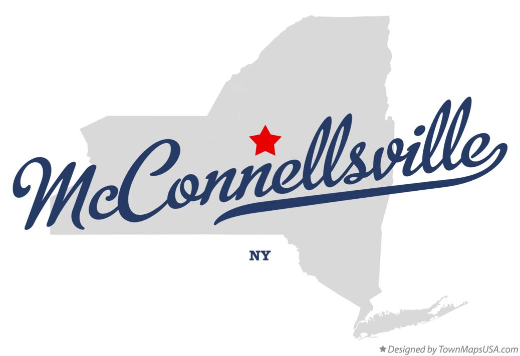 Map of McConnellsville New York NY