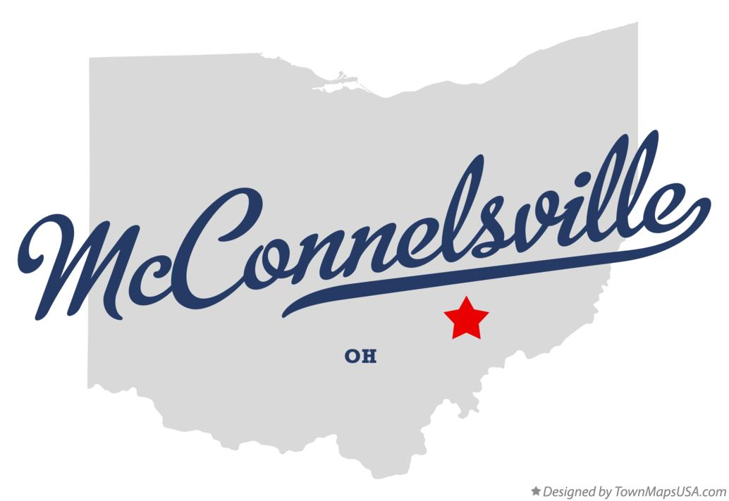 Map of McConnelsville Ohio OH