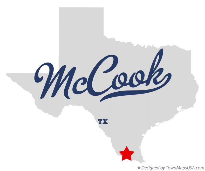 Map of McCook Texas TX