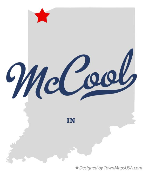 Map of McCool Indiana IN