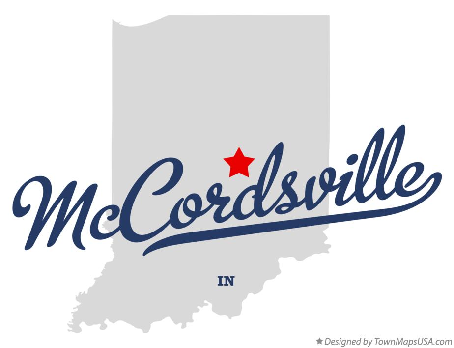 Map of McCordsville Indiana IN