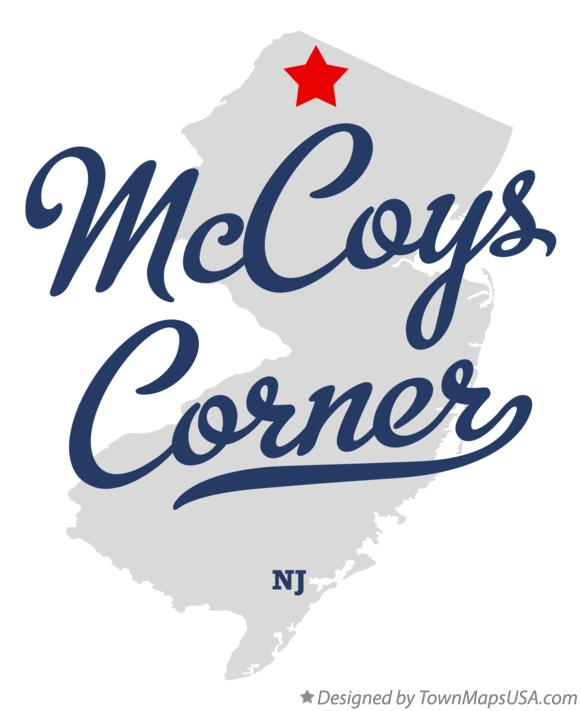 Map of McCoys Corner New Jersey NJ