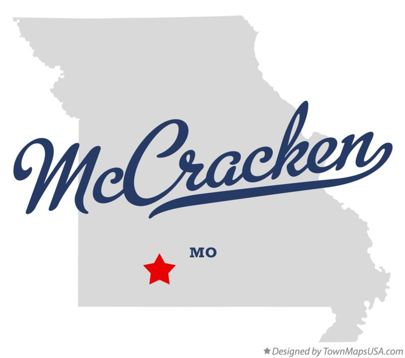 Map of McCracken Missouri MO