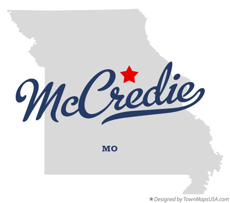 Map of McCredie Missouri MO