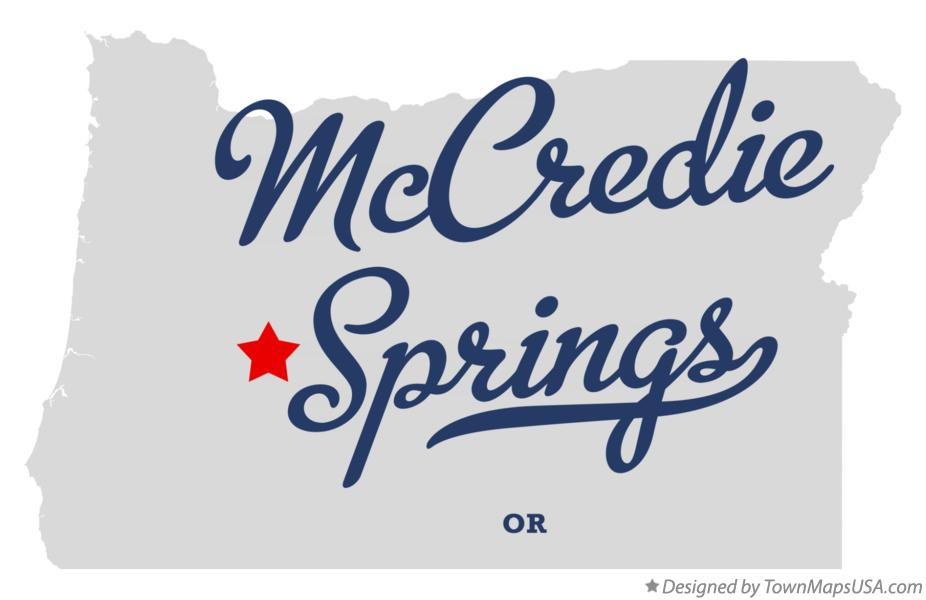 Map of McCredie Springs Oregon OR