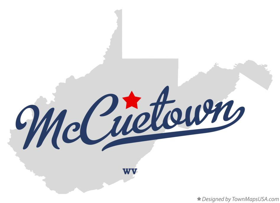 Map of McCuetown West Virginia WV