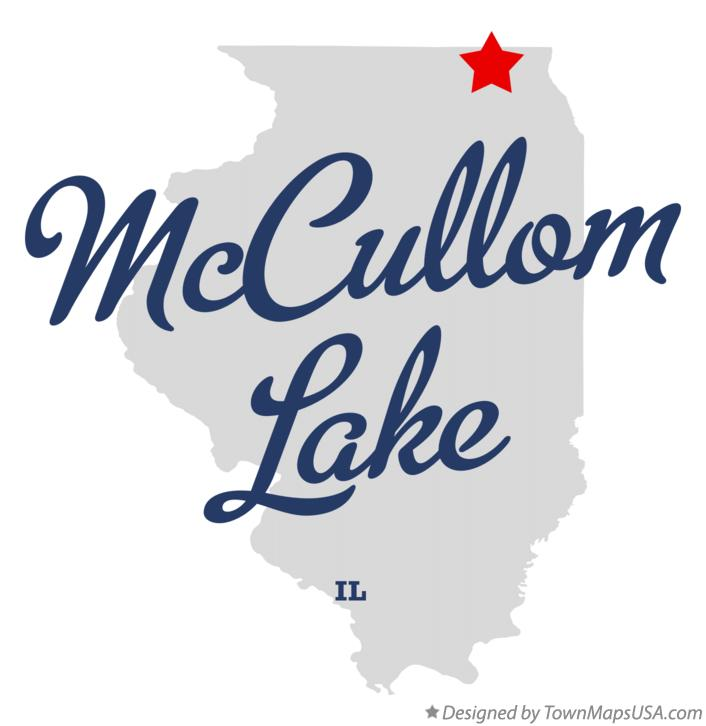Map of McCullom Lake Illinois IL