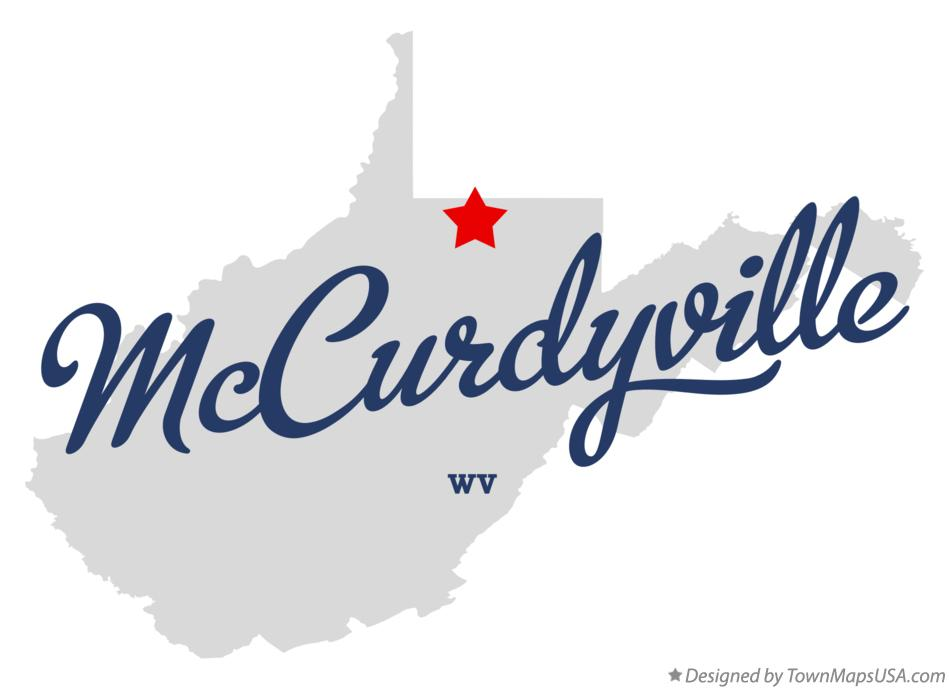 Map of McCurdyville West Virginia WV