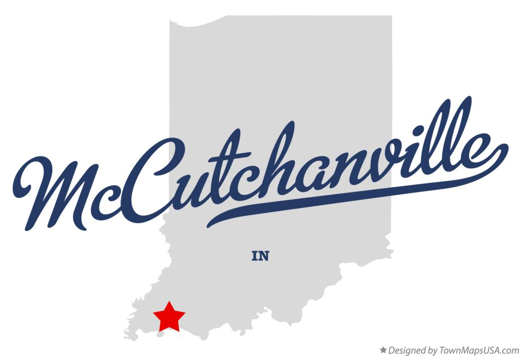 Map of McCutchanville Indiana IN