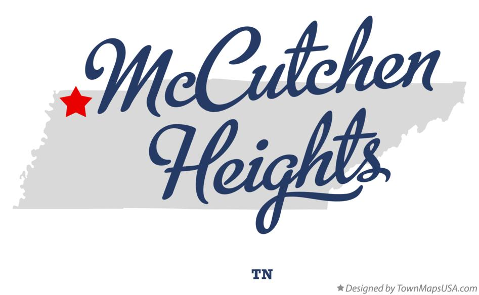 Map of McCutchen Heights Tennessee TN