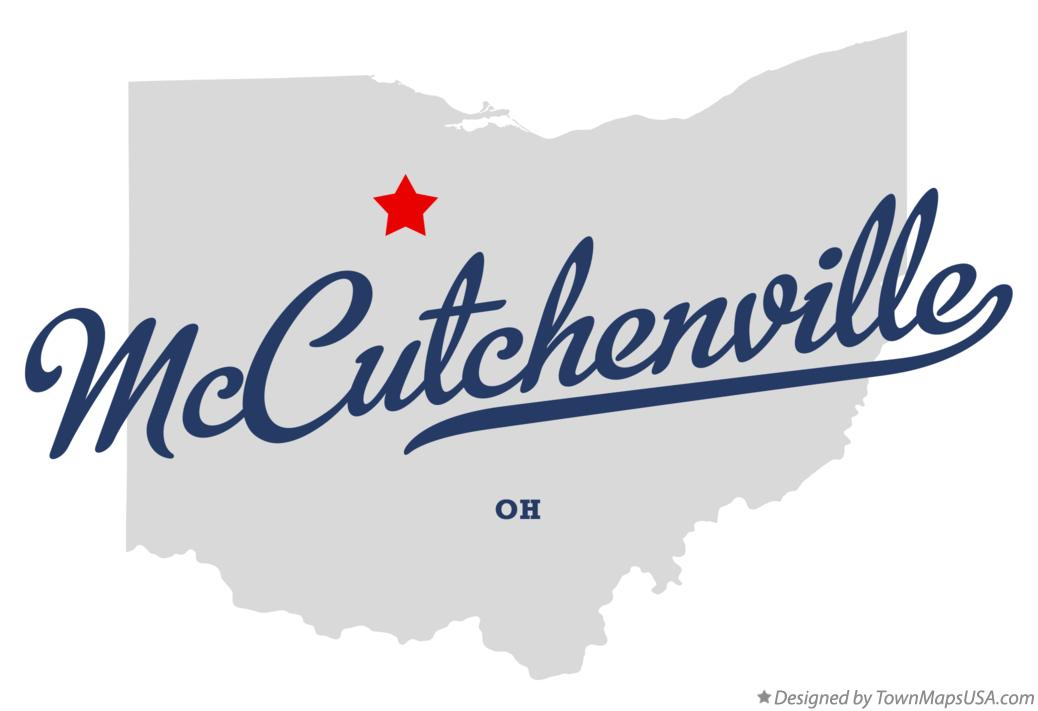 Map of McCutchenville Ohio OH