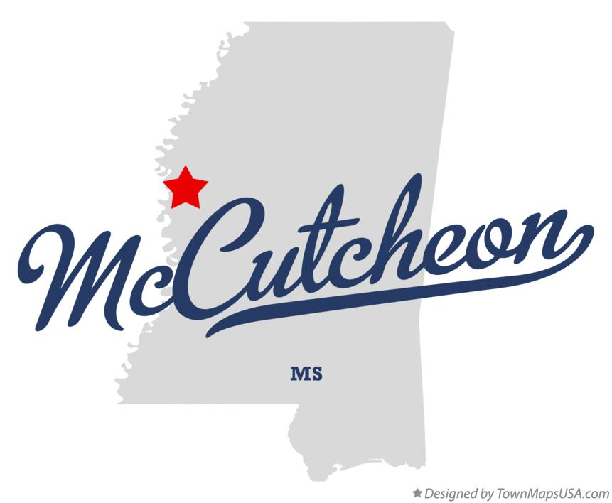 Map of McCutcheon Mississippi MS