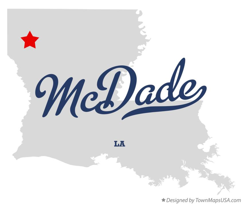 Map of McDade Louisiana LA