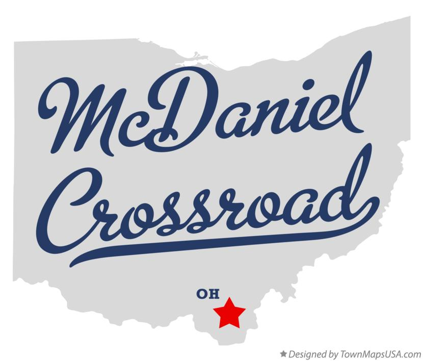 Map of McDaniel Crossroad Ohio OH