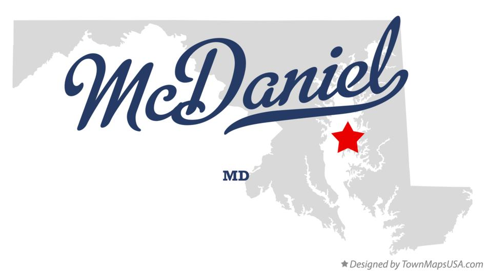 Map of McDaniel Maryland MD