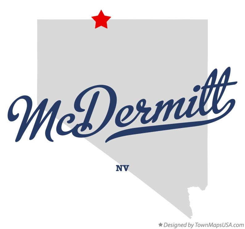 Map of McDermitt Nevada NV