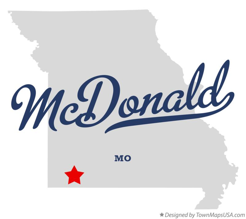 Map of McDonald Missouri MO