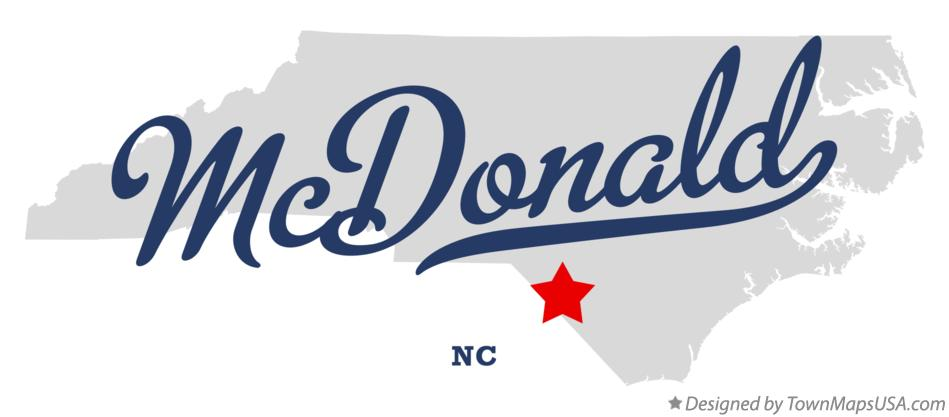 Map of McDonald North Carolina NC