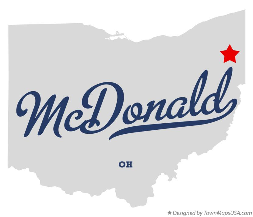 Map of McDonald Ohio OH