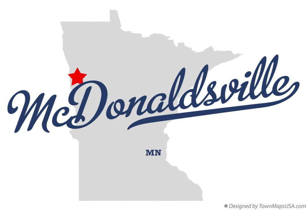 Map of McDonaldsville Minnesota MN