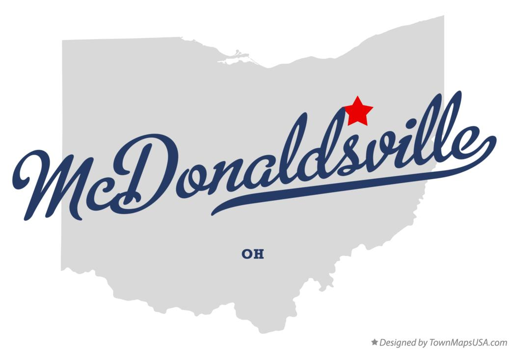 Map of McDonaldsville Ohio OH