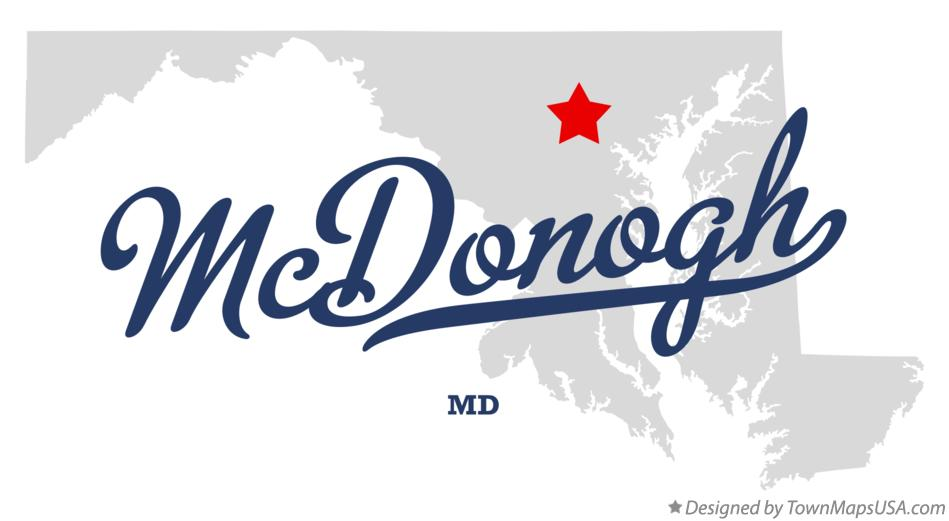 Map of McDonogh Maryland MD