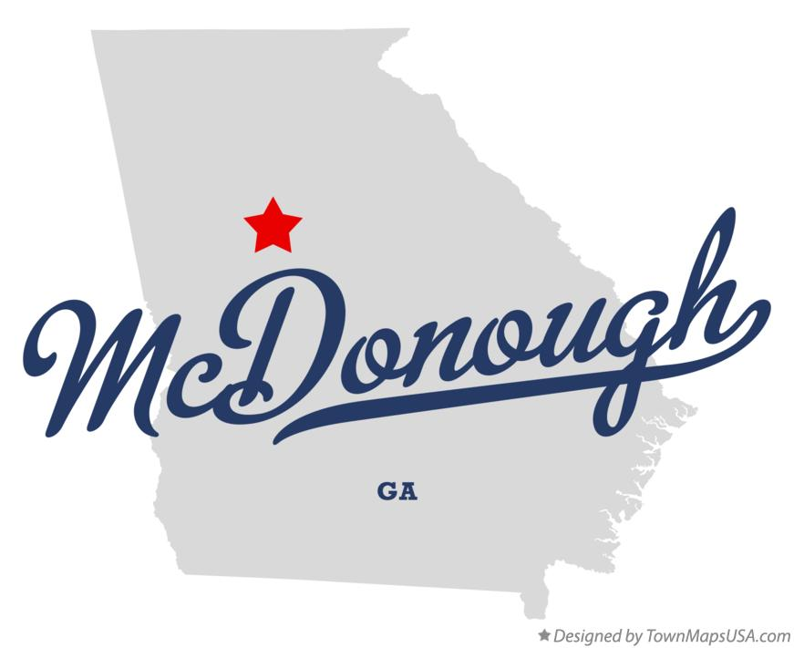 Map of McDonough Georgia GA