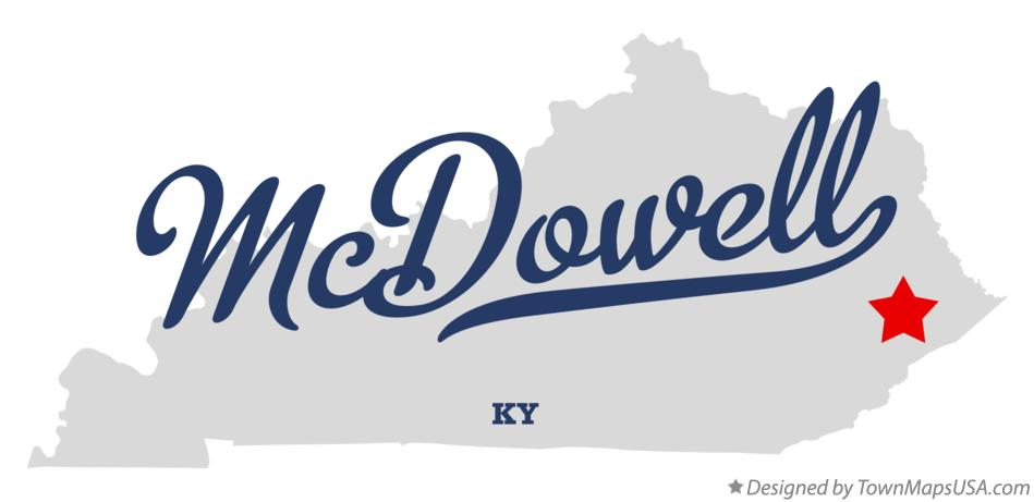 Map of McDowell Kentucky KY