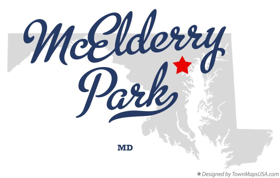 Map of McElderry Park Maryland MD
