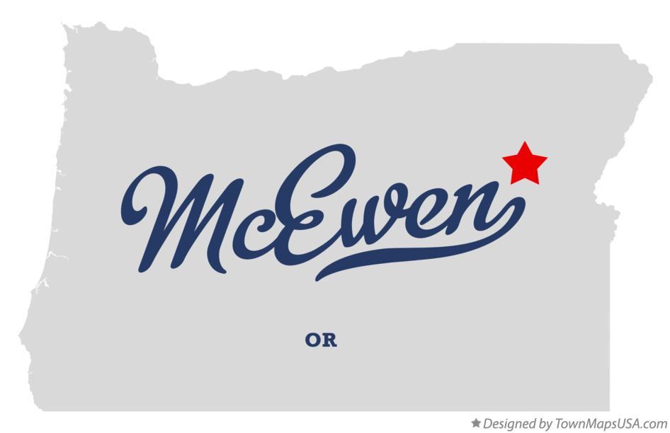 Map of McEwen Oregon OR