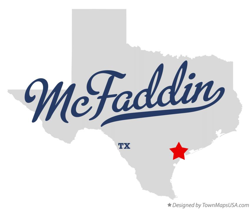 Map of McFaddin Texas TX