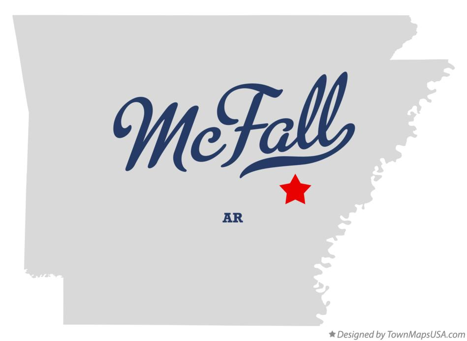 Map of McFall Arkansas AR