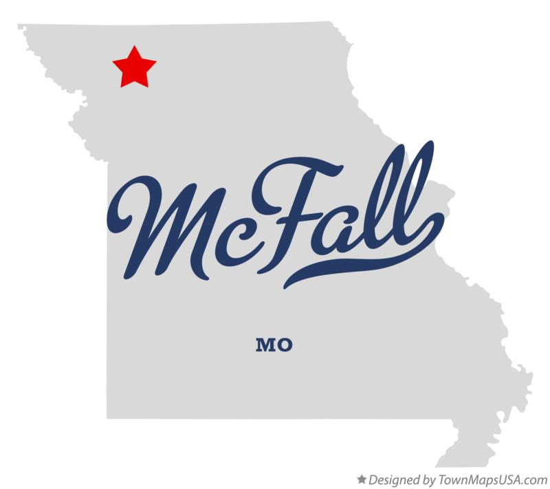 Map of McFall Missouri MO