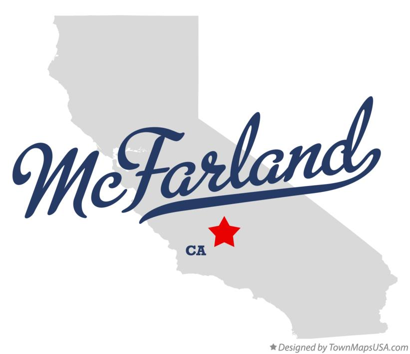 Map of McFarland California CA