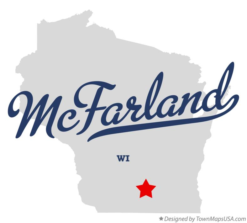 Map of McFarland Wisconsin WI