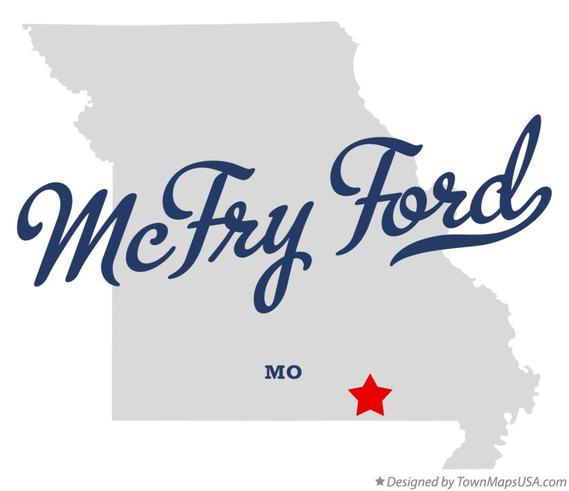 Map of McFry Ford Missouri MO