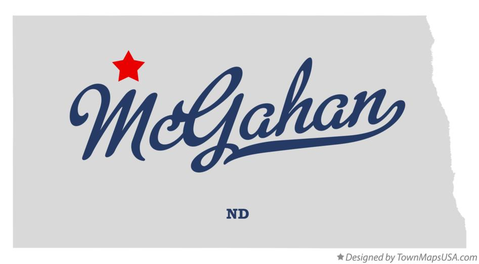 Map of McGahan North Dakota ND
