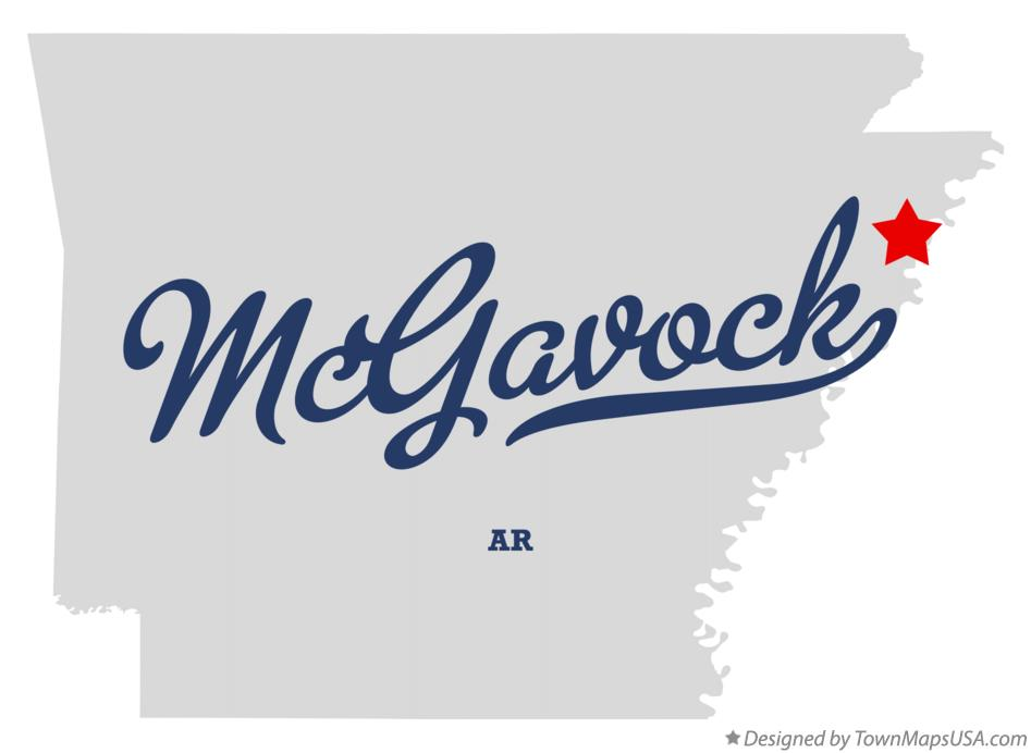Map of McGavock Arkansas AR