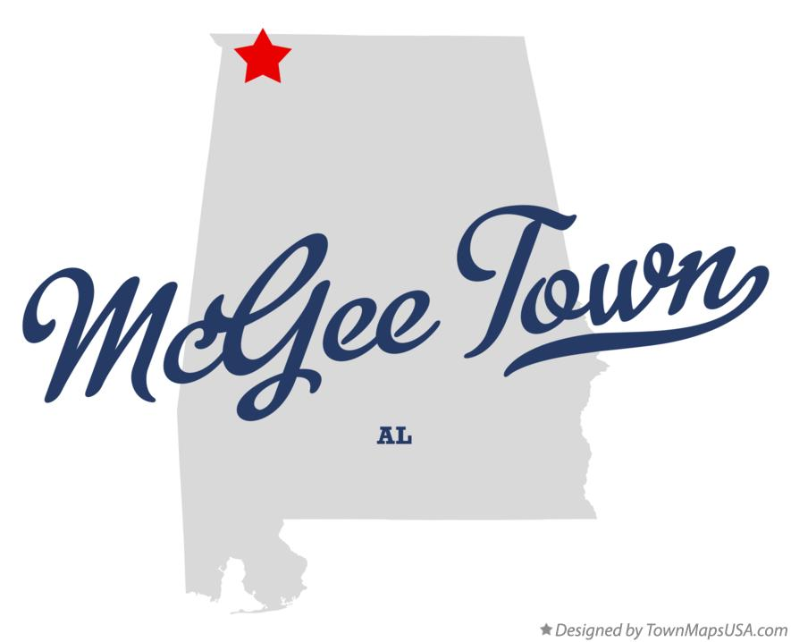 Map of McGee Town Alabama AL