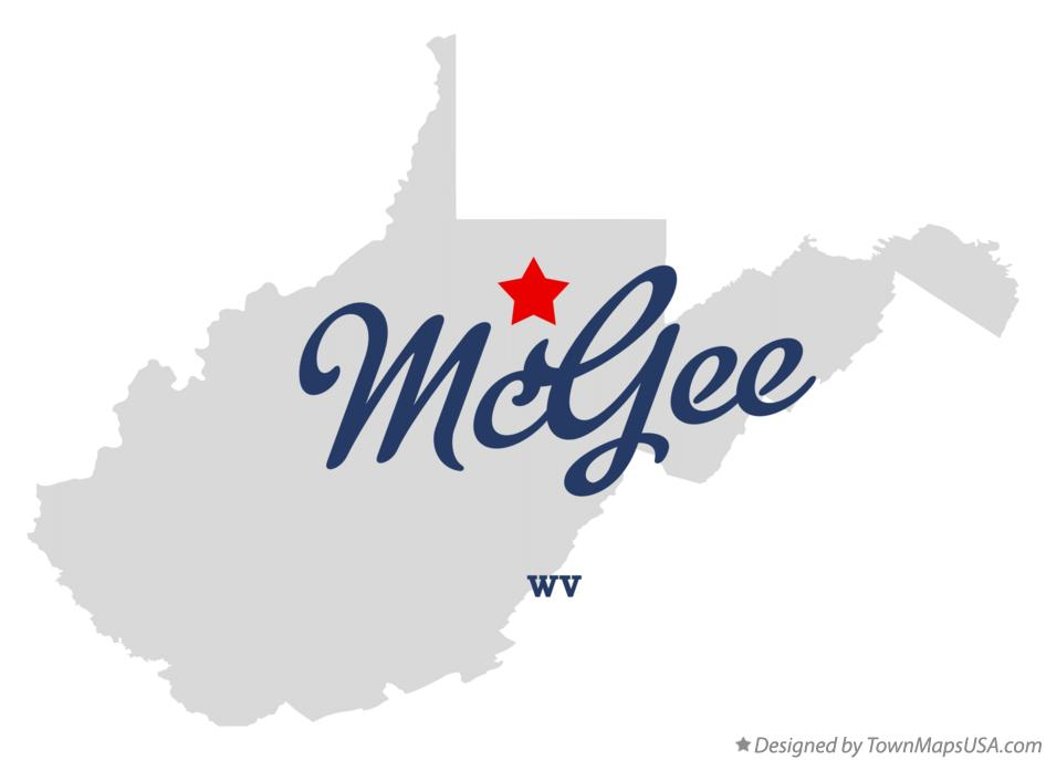 Map of McGee West Virginia WV