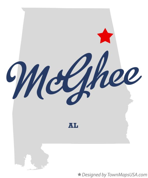Map of McGhee Alabama AL