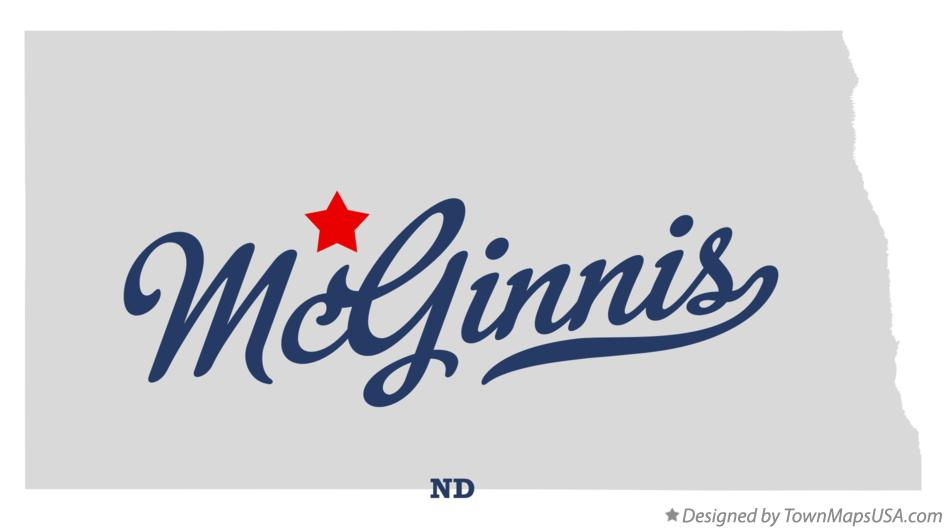 Map of McGinnis North Dakota ND