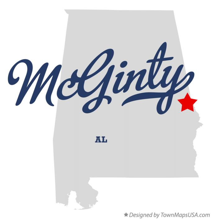 Map of McGinty Alabama AL