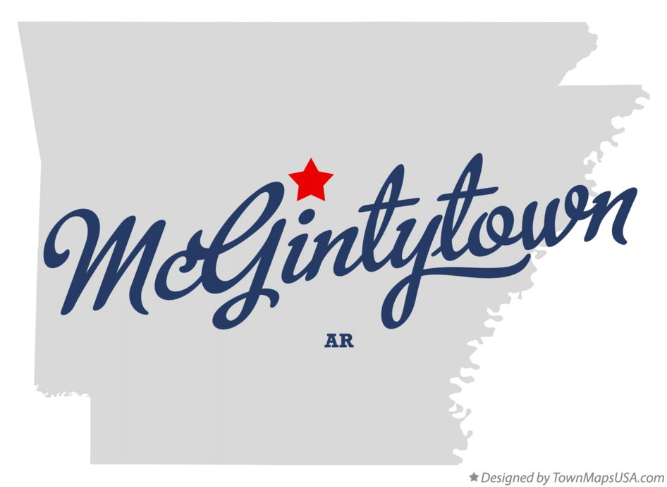 Map of McGintytown Arkansas AR
