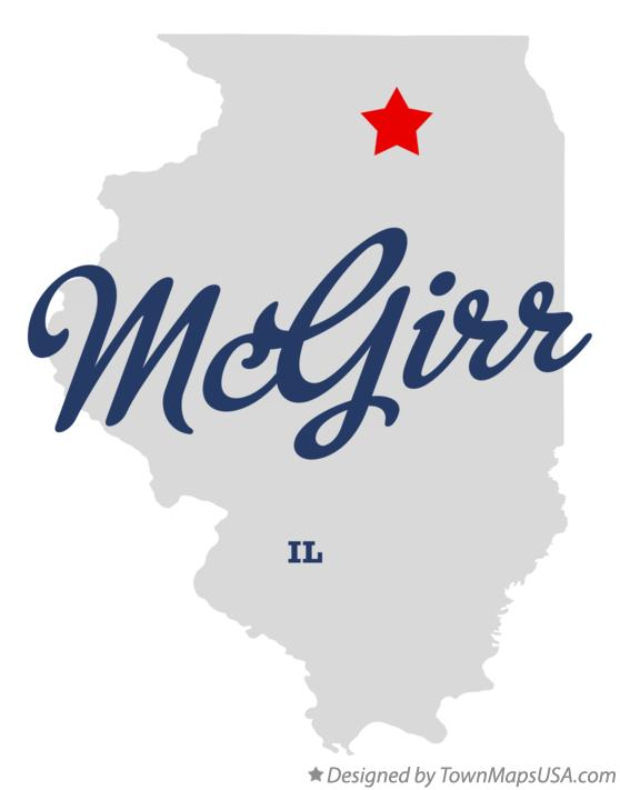 Map of McGirr Illinois IL
