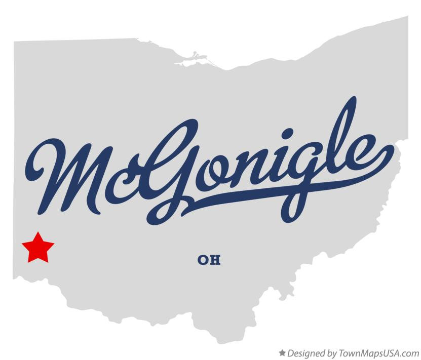 Map of McGonigle Ohio OH