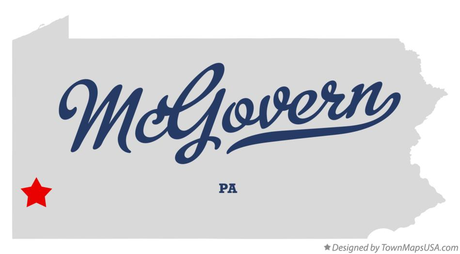 Map of McGovern Pennsylvania PA